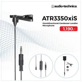 AUDIO TECHNICA - ATR3350xiS Omnidirectional Condenser Lavalier Microphone